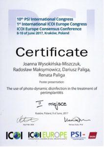 certyfikat za konferencje PSI 2017 06